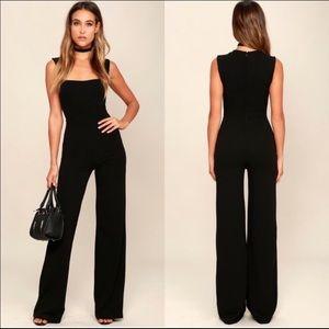 NWT Lulu's Enticing Endeavors Black Jumpsuit